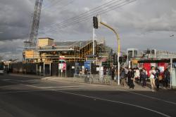 Footscray Station: New roof in place over the future Irving Street entrance