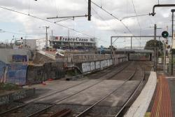 Footscray Station: Excavation for the future suburban tracks towards Hopkins Street