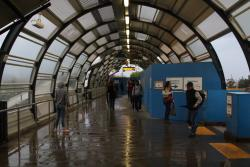 Footscray Station: Water, water everywhere beneath the halfarsed roof of the current footbridge