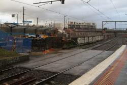 Footscray Station: Work on the new suburban platforms to the north of the existing station