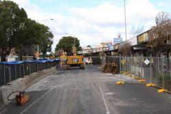 Half of Irving Street (west of Nicholson Street) closed to traffic for excavation works