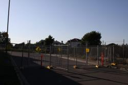 West end of Neilson Place fenced off for RRL construction