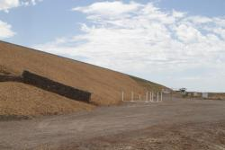 Completed embankment leading towards Wyndham Vale