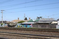 Back fences of the vacated properties at Middle Footscray: 178, 180, 182 and 184 Buckley Streey