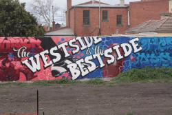 'The West Side is the Best Side' mural near Middle Footscray