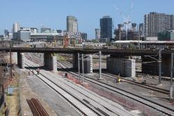 RRL track pair for Southern Cross platforms 15 and 16 awaiting completion