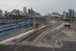 Work continues on the RRL flyover track at North Melbourne