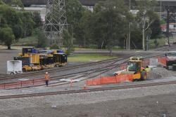 New BG connection from the RRL flyover towards the South Dynon loco depot