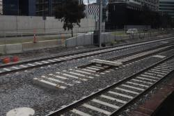 Incomplete tracks between Latrobe Street and Southern Cross