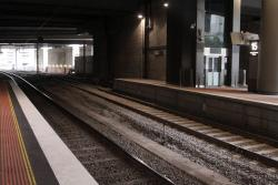 Track still to be completed at the south end of platform 15