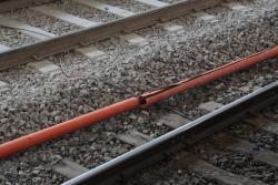 Bodge job of conduits for the suburban track signalling cables beside platform 14