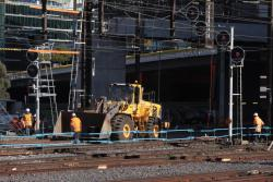 Work to tie platforms 15 and 16 into Viaduct Junction