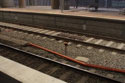 Dodgy looking cable trunking between platforms 14 and 15