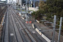 South of Latrobe Street: Up RRL Track, Down RRL Track, and Metro and Freight Bypass