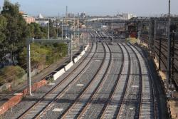 North of Latrobe Street: West Bypass Track, East Bypass Track, Down RRL Track and Up RRL Track