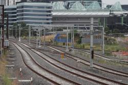 Single crossover between down RRL track and the East Bypass Track