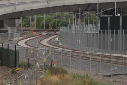 RRL flyover track west side of the Melbourne Yard sidings towards the main tracks at Spion Kop