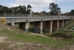 New concrete deck in place on the northern bridge over Kororoit Creek