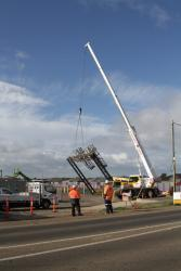Removing a redundant signal gantry from the Ballarat line at Robinsons Road