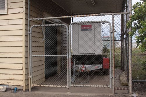 Genset supplying power to a mystery building in the eastern side carpark