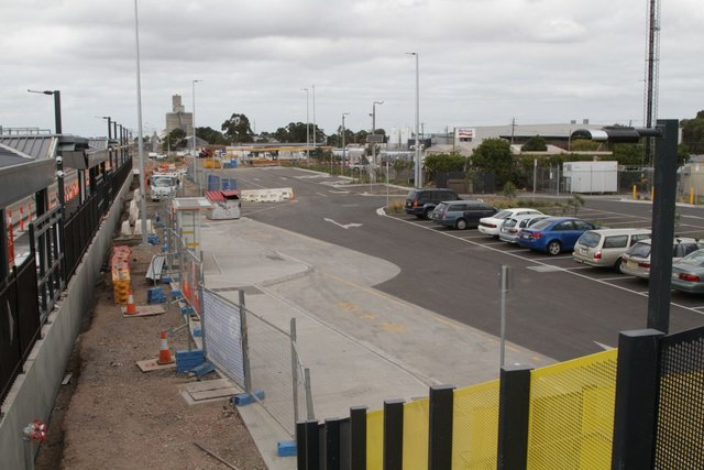Completed car park upgrades at the western side of the station