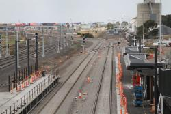 Rail Geelong - Gallery - Wide gap between the RRL tracks laid