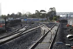 Future junction for the Geelong/Ballarat and Bendigo lines in place at the down end of Sunshine