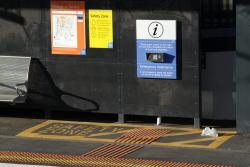 'Safety Zone' on suburban platform 1 at Sunshine