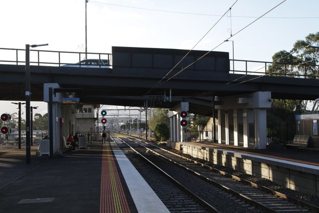 Hampshire Road bridge crosses the suburban tracks