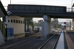 Hampshire Road bridge crosses the new RRL tracks