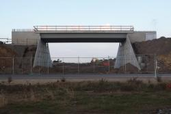 Deck in place for the Tarneit Road overbridge