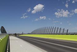 Protection screens on the Tarneit Road road over rail bridge