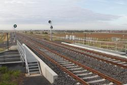 Looking up the line from Tarneit station