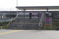 Steps leading to platform 2 at Tarneit
