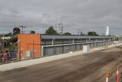 Building for the new traction substation completed, but yet to be commissioned