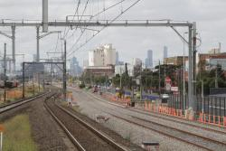 RRL trains in place between Tottenham and West Footscray