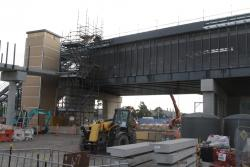 West Footscray: Southern end of the new station footbridge