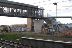 West Footscray: Northern end of the new station footbridge