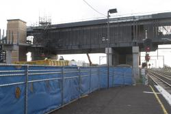 West Footscray: New station footbridge towers above the old station
