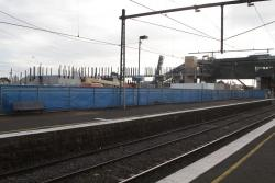 West Footscray: Ramps on the south side of the new station, viewed from the old station