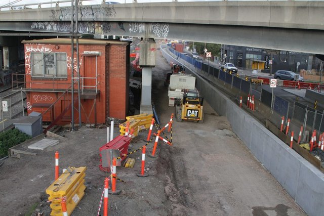 Buckley Street moved to make room for the down RRL track