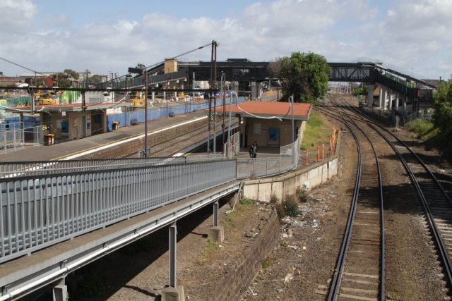 Looking over the old West Footscray station towards the new one