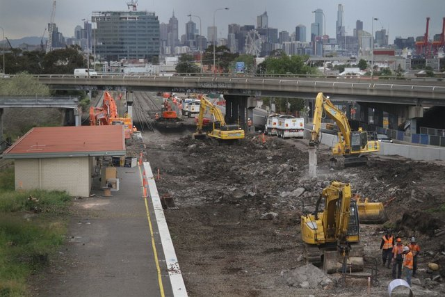 Former down platform at West Footscray all gone