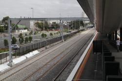 RRL track pair pass to the south of the station