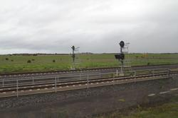 Wyndham Vale South: Up signal WVS900 on the mainline and WVS902 on the siding