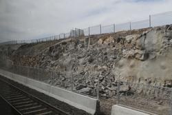 Work underway to widen the cutting north of Wyndham Vale for a third track