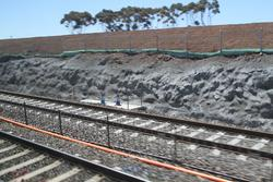 Wyndham Vale Stabling: Down end headshunt virtually complete