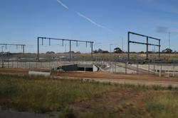 Wyndham Vale Stabling: Overhead gantries in place, but only to support lighting for now