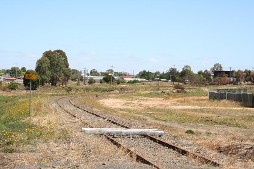 Baulks on the Avoca line at Grano Street, looking towards the station