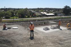 Ararat: Signalling works at the new Ararat standard gauge triangle